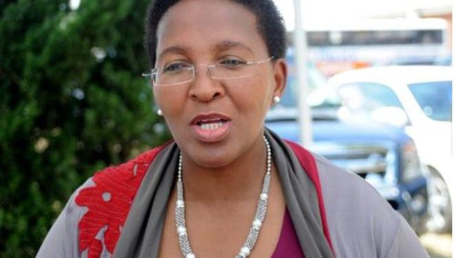 Gauteng sports MEC Faith Mazibuko who was recorded shouting at managers to build stadiums before the May elections even if that meant bypassing regulations.