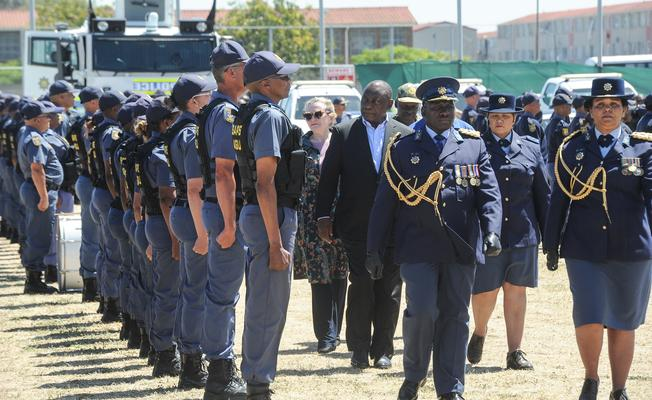 President Cyril Ramaphosa formally launched the Anti-Gang Unit in Hanover Park, Cape Town, in November last year. FILE PHOTO: Henk Kruger/ANA/African News Agency