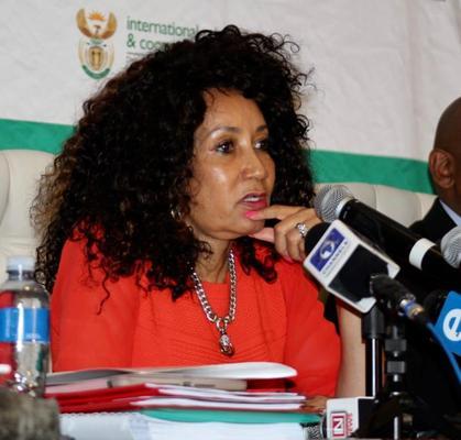 International Relations Minister Lindiwe Sisulu. Photo: Jonisayi Maromo / African News Agency