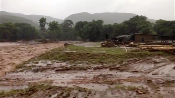 Flooding caused by Cyclone Idai is seen in Chipinge, Zimbabwe