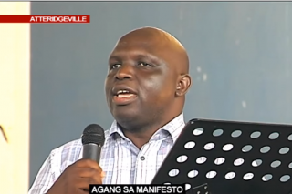 WATCH: Agang leader mistakenly tells crowd to vote for ANC during election manifesto