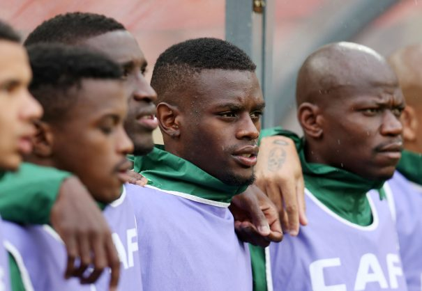 Innocent Maela with Bafana Bafana teammates (Muzi Ntombela/BackpagePix)