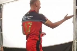 WATCH: AB's dodgy karate moves!