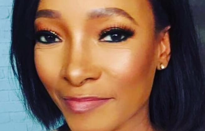 Former ANN7 newsreader and actress, Palesa Madisakwane