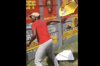VIDEO: Apologetic EFF 'condemns' members for removing ANC posters