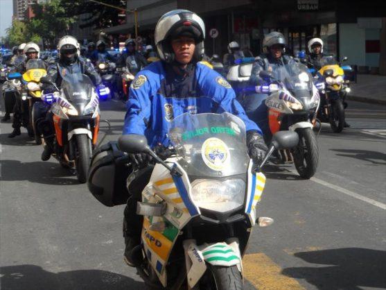 A TMPD motorbike convoy. Image: Pretoria North Rekord