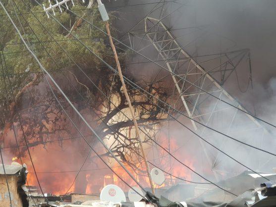 Alexandra power station on fire again