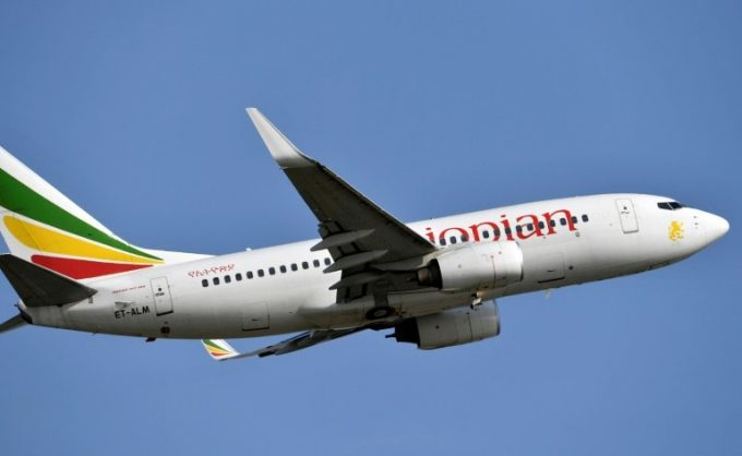 A file photo of Ethiopian Airlines Boeing 737-700 aircraft, similar to the 737-800 which crashed outside Addis Ababa on Sunday with the loss of 157 lives. AFP/File/ISSOUF SANOGO