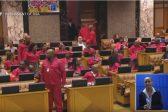 WATCH: Malema threatens to throw glass in parliament, Shivambu calls chair 'dog'