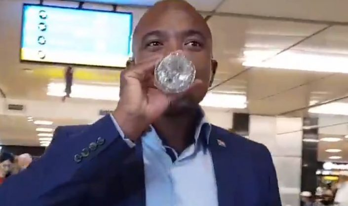 Maimane learns to count with help from 'Woolies water'