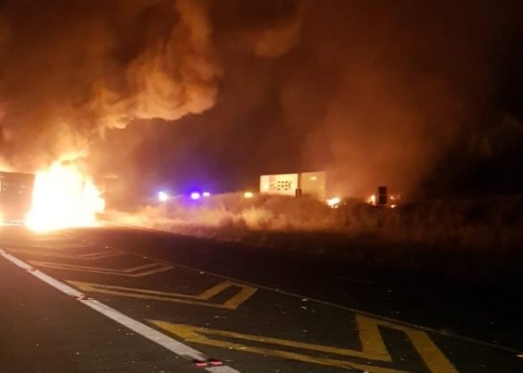 The scene earlier this morning. Picture: Estcourt Midlands News