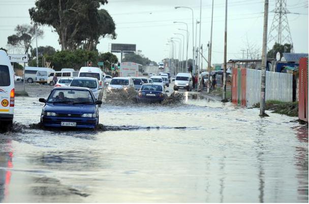 New Eisleben Road in Philippi flooded after Sunday night into Monday morning rainfall. PHOTO: Ayanda Ndamane / African News Agency (ANA)