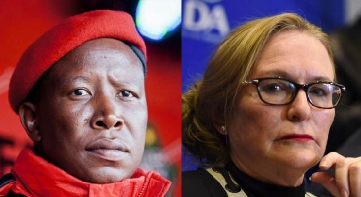 Zille sides with Malema and EFF over Sanef