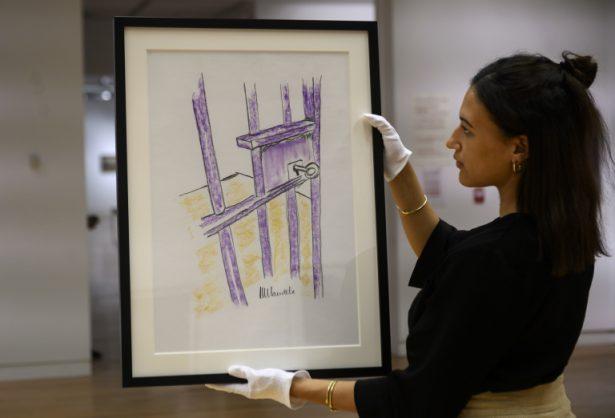 Mandela prison drawing goes under the hammer in US