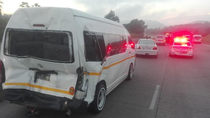 13 injured in Hammersdale collision between minibus taxi and truck