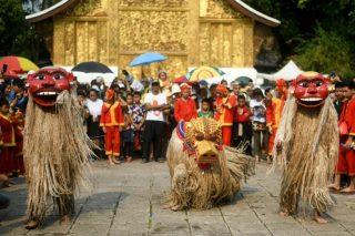Masked merriment: Sacred Laos 'ancestors' honoured for new year