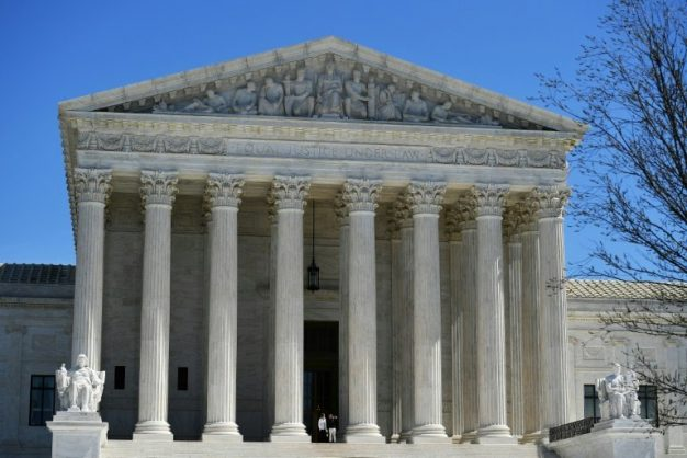The US Supreme Court will weigh in on swearing as opposed to slang in trademarks. AFP/MANDEL NGAN