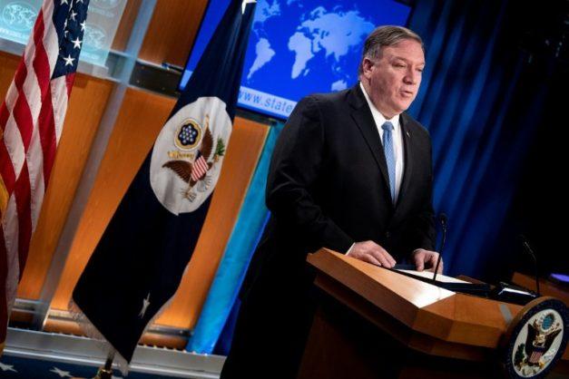 US Secretary of State Mike Pompeo announces new measures against Cuba's government on April 17, 2019. AFP/Brendan Smialowski
