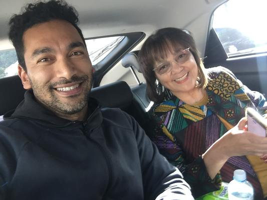 Cape Town journalist and film maker Yazeed Kamaldien and GOOD leader Patricia de Lille. PHOTO: Supplied