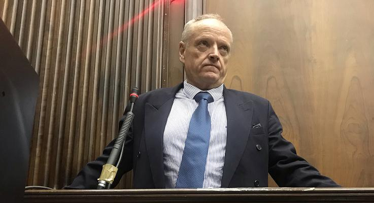 SOUTH AFRICA - Cape Town - 15 April 2019 - Rob Packham is on trial for murder and obstructing the ends of justice. He is accused of killing his wife, Gill Packham. He takes the stand in the Cape High Court. Picture: Courtney Africa/African News Agency(ANA)