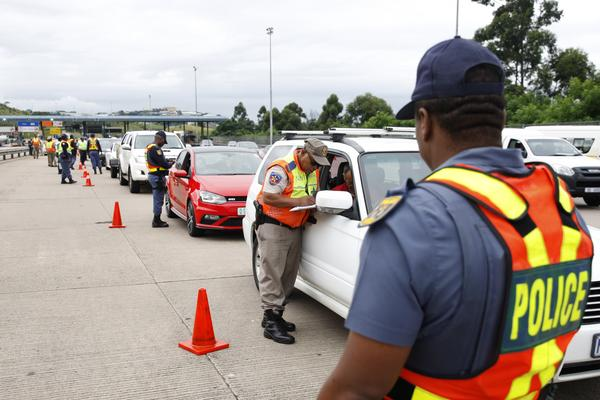 More than 20 000 traffic offers hit SA's streets for lockdown