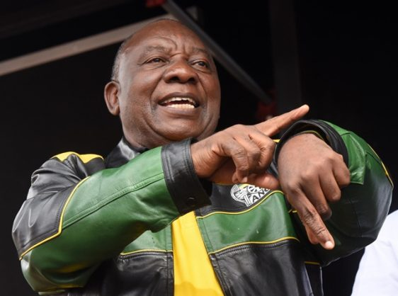 African National Congress President, Cyril Ramaphosa address Alexandra residents at Alexandra Stadium in Johannesburg, 11 April 2018, as part of of a campaign trail. Picture:Nigel Sibanda