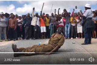 WATCH: Alexandra township protester 'resurrected' amid #AlexTotalShutdown