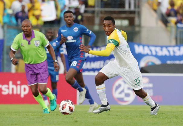 Lebohang Maboe of Sundowns during the Absa Premiership 2018/19 football match between Supersport United and Sundowns at Lucas Moripe Stadium. (Gavin Barker/BackpagePix)