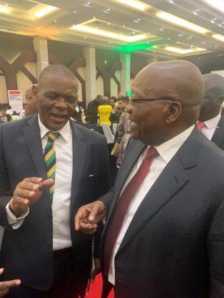 ANC secretary-general Ace Magashule with Jacob Zuma. Picture: Twitter/Jacob Zuma