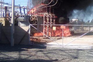 Randfontein substation explodes into flames