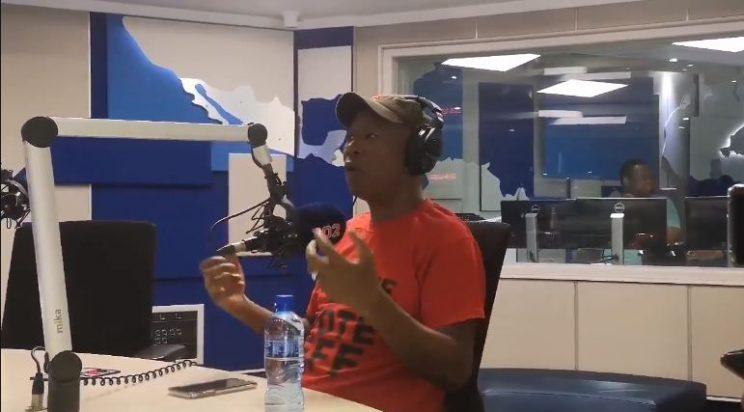 EFF leader Julius Malema on talk radio 702. Picture: Screenshot.