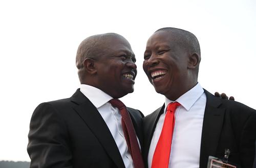 Deputy President David Mabuza and EFF leader Julius Malema. Picture: David Mabuza/Twitter