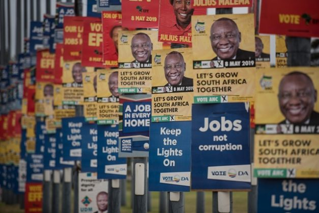 Hundreds of posters from different political parties are seen along Pretorius Street, 2 April 2019, Pretoria. Picture: Jacques Nelles