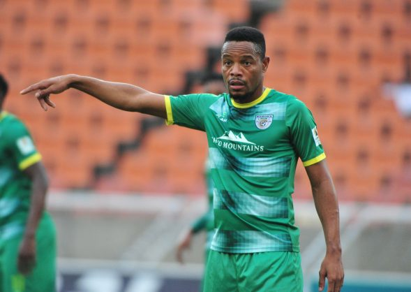 POLOKWANE, SOUTH AFRICA - MARCH 03: Thabiso Semenya of Baroka FC during the Absa Premiership match between Baroka FC and Polokwane City at New Peter Mokaba Stadium on March 03, 2019 in Polokwane, South Africa. (Photo by Philip Maeta/Gallo Images)