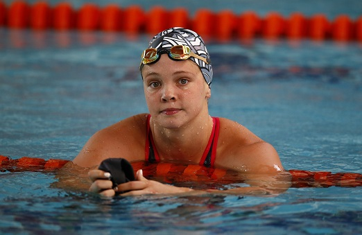 Erin Gallagher during day 3 of the SA National Aquatic Championships at Kings Park Swimming Pool on April 10, 2019 in Durban, South Africa. (Photo by Steve Haag/Gallo Images)