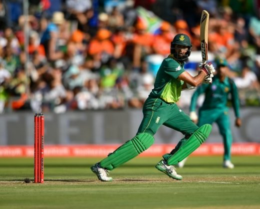 Hashim Amla in action during the 5th Momentum One Day International between South Africa and Pakistan at PPC Newlands on January 30, 2019 in Cape Town, South Africa. (Photo by Anton Geyser/Gallo Images)