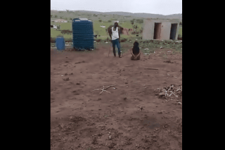 WATCH: Father ties daughter's hands and beats her with sjambok
