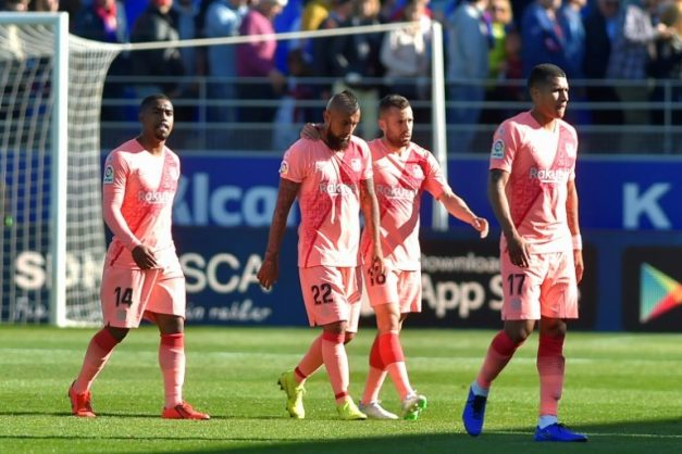 A much-changed Barcelona failed to find a way past Huesca. AFP/ANDER GILLENEA