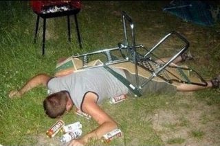 Falling drunk is safer than if you're sober