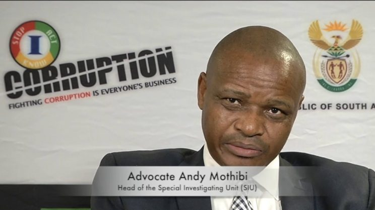 Head of the Special Investigations Unit (SUI), Advocate Andy Mothibi. Picture: YouTube.