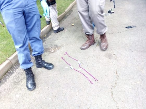 Pieces of wool with muti inside is apparently worn by the suspects. Photo: Naidine Sibanda