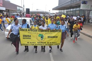 Pupils march to demand a university in Rustenburg