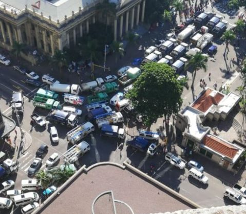 Municipal workers protest in Durban