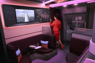 Virgin Atlantic's new plane features cocktail lounge and seats inspired by luxury fashion