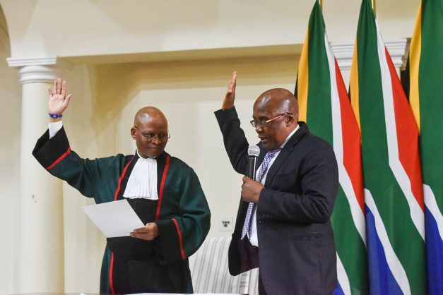 Minister of Home Affairs, Aaron Motsoaledi during the swearing in of the new Presidential Cabinet at the Presidential Guesthouse in Pretoria, 30 May 2019. Picture: Jacques Nelles