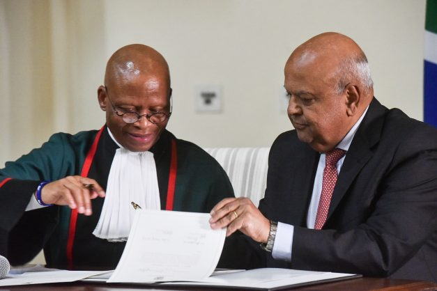 Minister of Public Enterprises, Pravin Gordhan during the swearing in of the new Presidential Cabinet at the Presidential Guesthouse in Pretoria, 30 May 2019. Picture: Jacques Nelles