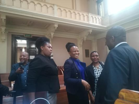 Public protector Busisiwe Mkhwebane attending court proceedings at the North Gauteng High Court after the Democratic Alliance brought an application against her report on the Vrede Dairy Farm project. FILE PHOTO: Brenda Masilela / African News Agency (ANA)