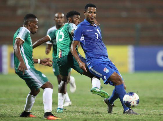 Felix Badenhorst  of Eswatini during the 2019 Cosafa Cup Match between Eswatini and Comoros at King Zwelithini Stadium. (Samuel Shivambu/BackpagePix)