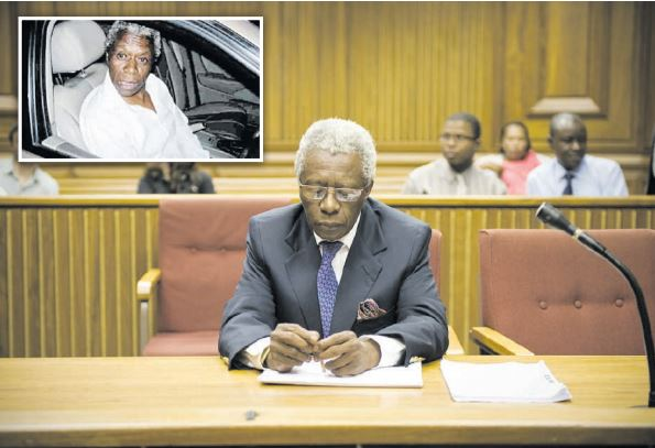 Nkola Motata in court in November, 2010, and, inset, sitting in his Jaguar after hitting the wall of a house in Joburg in 2007. Pictures: Michel Bega (court pic) and Richard Baird (inset).