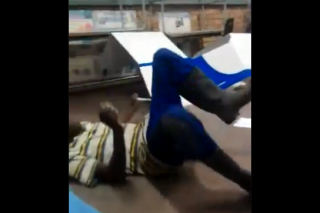 WATCH: Drunk voter makes a scene as he struggles to make his mark